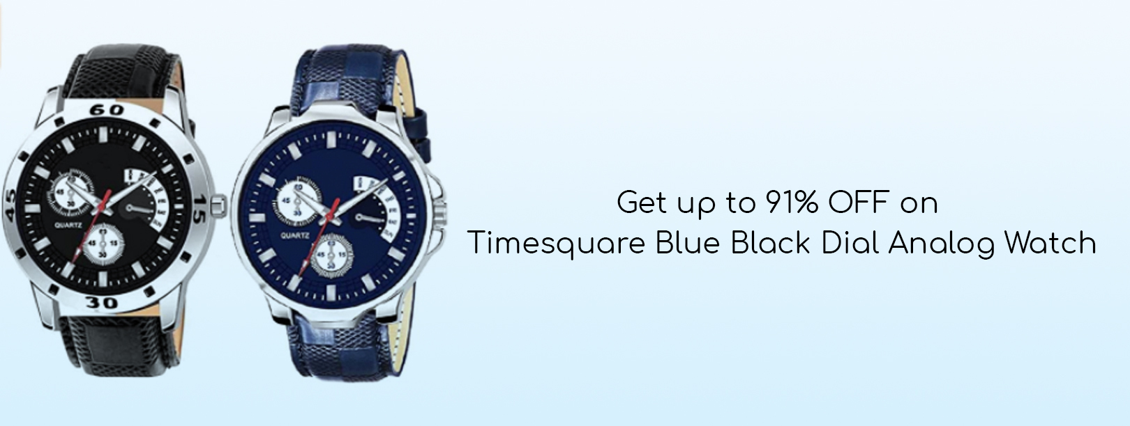 Timesquare Blue Black Dial Analog Watch