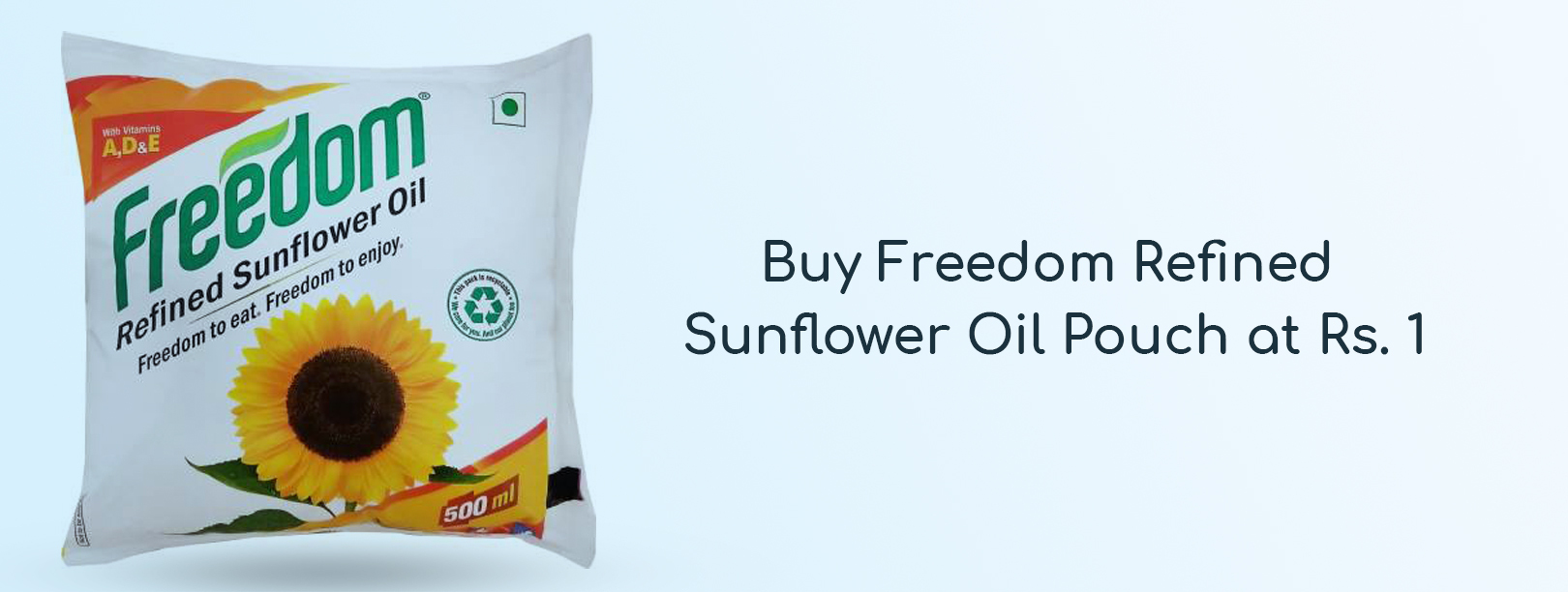 Freedom Refined Sunflower Oil Pouch