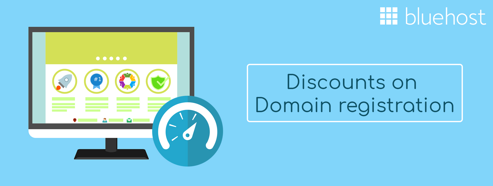 Bluehost Get your own domain at Rs 599